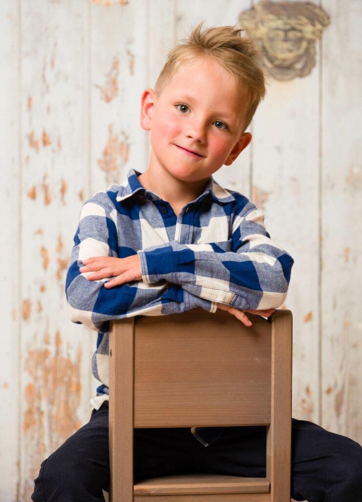 Kindergartenfotografie Studio-Porträt